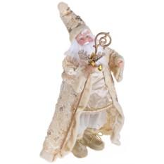 Новогоднее музыкальное украшение Дед Мороз с посохом