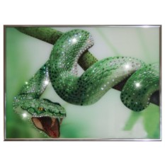 Картина с кристаллами Swarowsk Зеленый Змей