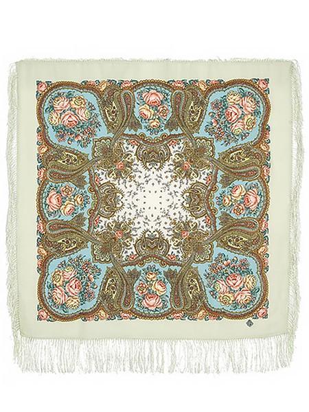 Павлопосадский шерстяной платок с рисунком Сольвейг