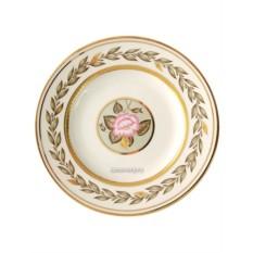 Фарфоровая пирожковая тарелка Нефритовый фон