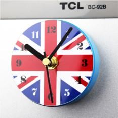 Магнитные часы на холодильник Британский флаг