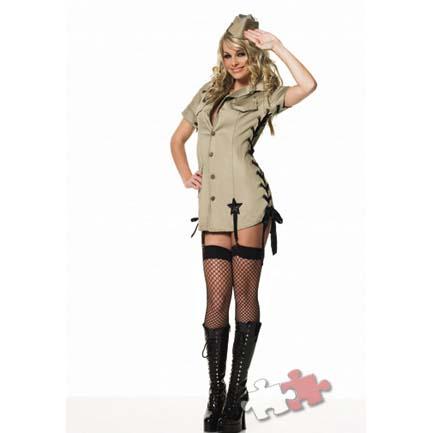Маскарадный костюм «Девушка-солдат»