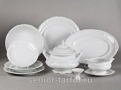 Столовый сервиз Leander – Соната (Белый) на 6 персон (25 предметов) 30415