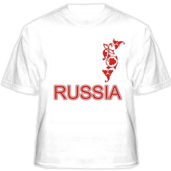 Прикольная футболка ROSSIA