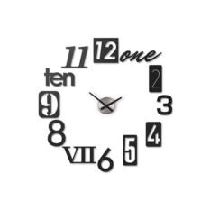 Черные настенные часы Numbra