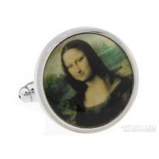 Запонки «Мона Лиза» в именной коробке с гравировкой