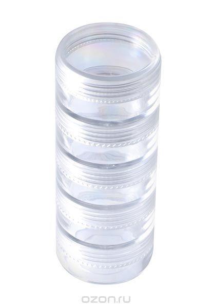 Органайзер для хранения бисера, круглый, 5 отделений
