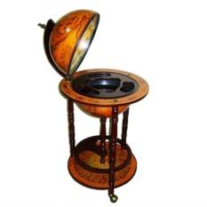 Напольный глобус бар, диаметр сферы 33см