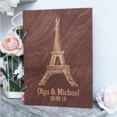 Деревянная книга пожеланий Париж