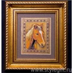 Панно-гравюра Рыжая лошадь