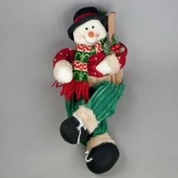 Новогоднее украшение Снеговик - лыжник