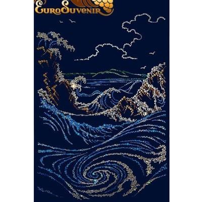 Картина Swarovski Буря на море