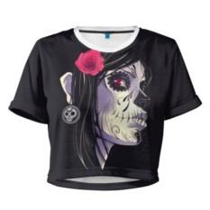 Женская укороченная футболка День мертвецов
