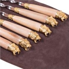 Подарочные шампура 6 штук в колчане Тигры