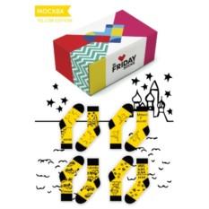 Дизайнерские носки Желтая Москва