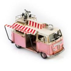 Ретро-модель Розовый автобус с фоторамкой
