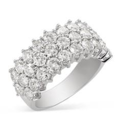 Золотое кольцо Roxy с муассанитами
