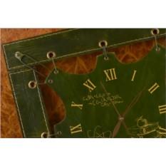 Часы из кожи Знания (зеленый)