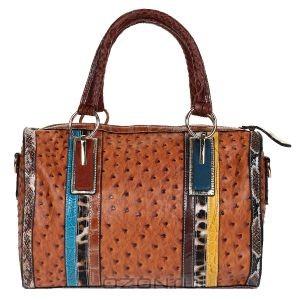 Женская сумка Fancy's Bag, цвет: коричневый, оранжевый