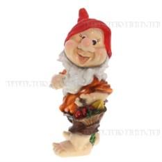Декоративная садовая фигурка Гном с корзиной