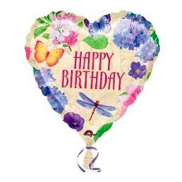 Шар из фольги Сердце (Happy birthday)