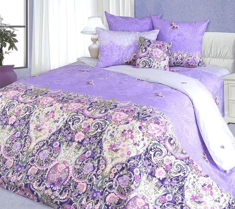 Комплект постельнеого белья Мадонна сиреневый (перкаль)