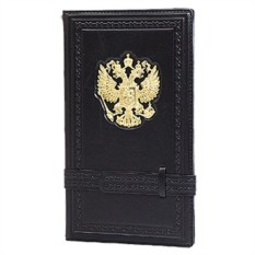 Черная настольная визитница «Россия Златоглавая»