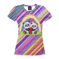 Женская футболка Влюбленные панды