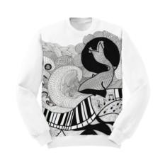 Женский свитшот PIANO&WHALE