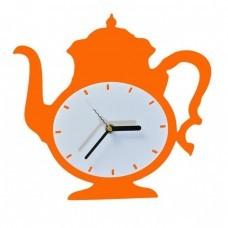 Часы Чайник, оранжевые