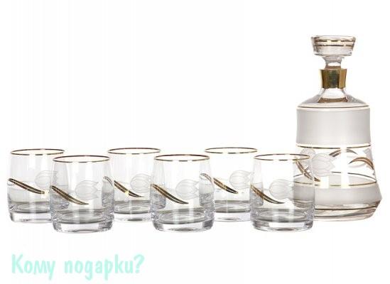 Набор для виски «Тюльпан»: штоф и 6 стаканов