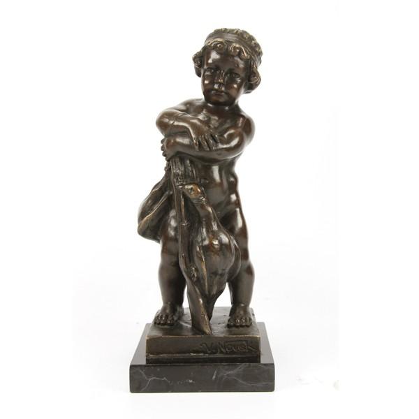 Бронзовая статуэтка Юный охотник