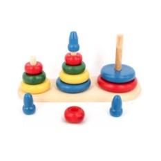 Разноцветная развивающая игрушка Пирамидка Больше-меньше