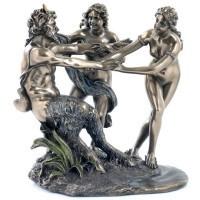 Бронзовая композиция Сатир и Нимфы