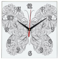 Часы-раскраска Бабочка