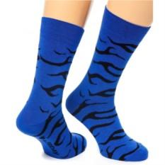 Синие носки Zebra Friday