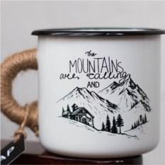 Эмалированная кружка Mountains