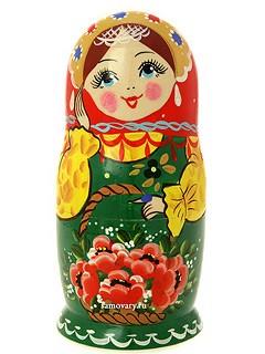 Набор матрешек Цветы в корзинке