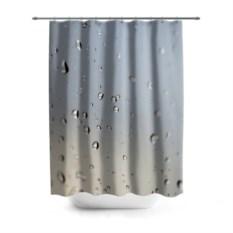 3D-штора для ванной Капли дождя