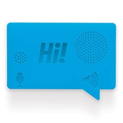Мини-диктофон с магнитом на холодильник  Hi, голубой
