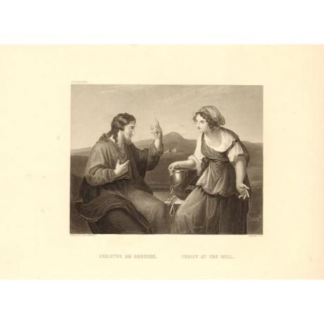 Гравюра «Христос у колодца»