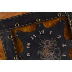 Часы из кожи Китайский дракон (черный)