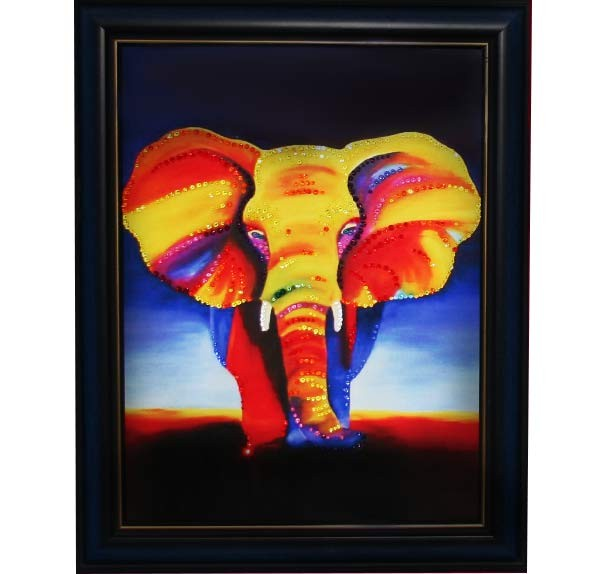 Картина с кристаллами Сваровски Слон