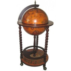 Бар в форме глобуса, размер 88x44x44 см