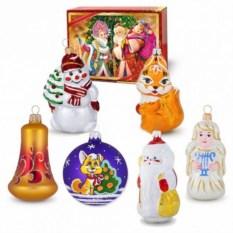Набор новогодних ёлочных игрушек