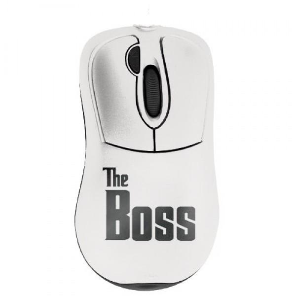 Прикольная мышь с дизайнерским принтом Босс
