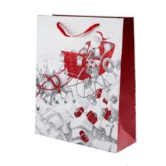 Подарочный пакет Дед мороз в санях
