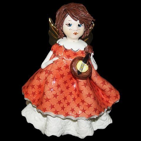 «Ангел с мандолиной» статуэтка