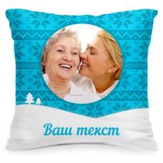 Подушка с фото «Сугробы»