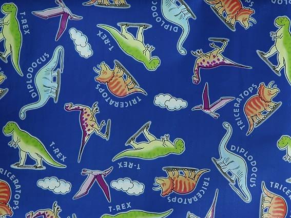 Упаковочная бумага с динозаврами